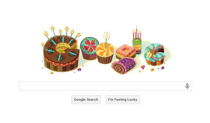 thanks google, image google birthday today