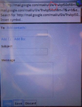 Ubahlah huruf x pada URL gmail anda